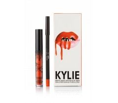 парфюмерия, косметика, духи Kylie Pumpkin Matte Liquid LipsticK and Lip Liner матовая помада + карандаш